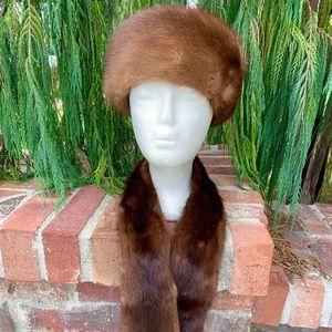 Accessories - Elegant Mink Fur Hat & Scarf Vintage From Germany